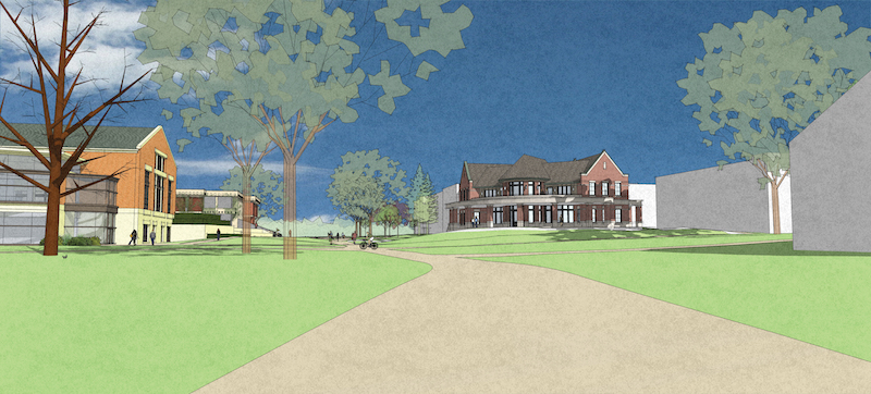 Campus Ministries House rendering