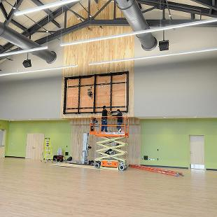 Large flex space for events and student activities