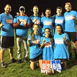 Fall 2017 coed flag football: Dutch Downs defeated Ayra Ready for Some Football