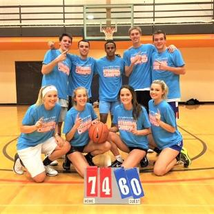 Fall 2017 less competitive coed basketball: The Private Club defeated Backcourt Violators.