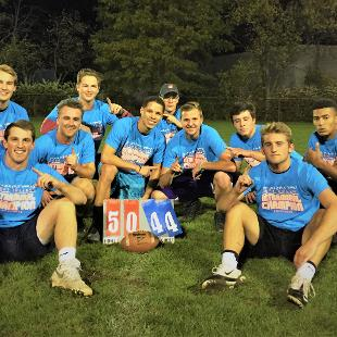 Fall 2017 men's flag football: Emmys defeated Assisted Living