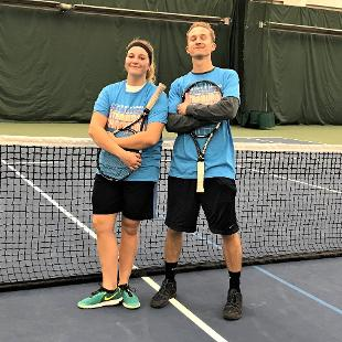 Fall 2017 coed doubles tennis: Let's Go SUSNAK! defeated Kick Ace