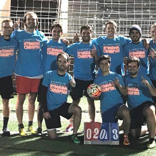 Fall 2017 men's soccer: Scott's Tots defeated Let's Kick It