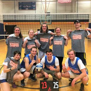 Spring 2018 more competitive coed volleyball: We Are Decent defeated Should Be Less Competitive