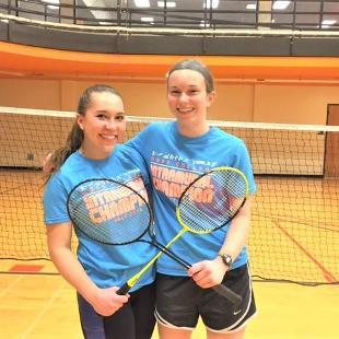 Fall 2017 women's badminton: Badminton to the Bone defeated Causing a Racquet