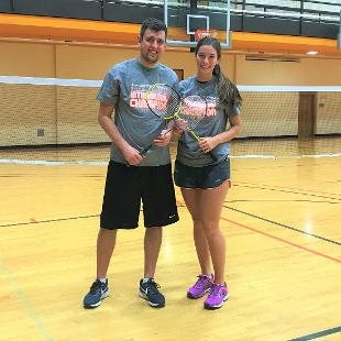 Fall 2017 more competitive coed badminton: Bye Bye Birdies defeated Michigan Badmittens