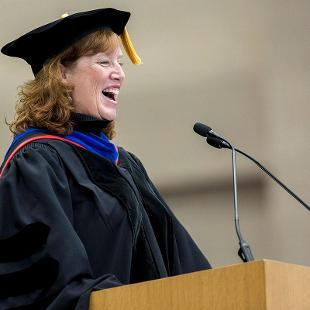 Provost Dr. Cady Short-Thompson speaks during the first Convocation of the new school year.