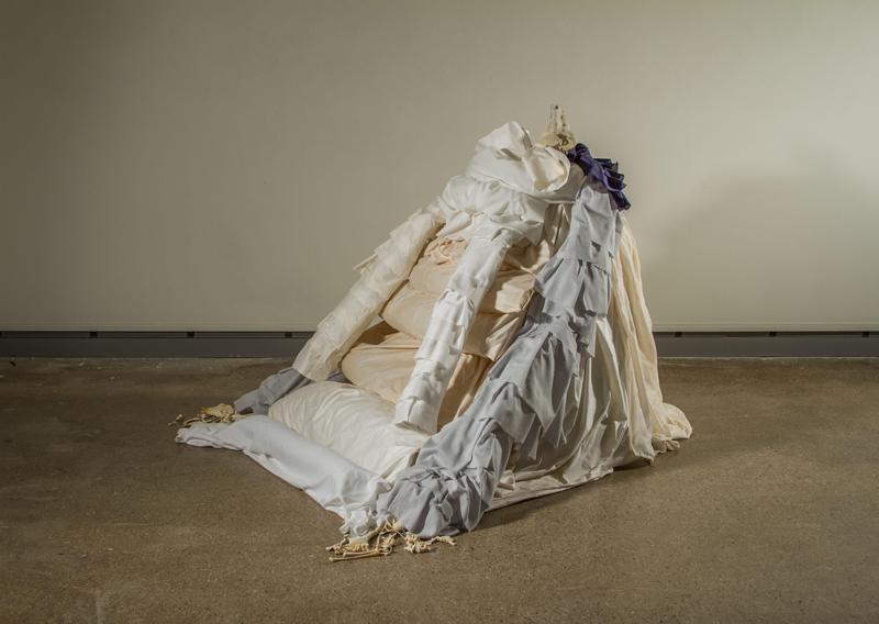 Brianne Munch's 2018 sculpture, As I Drag