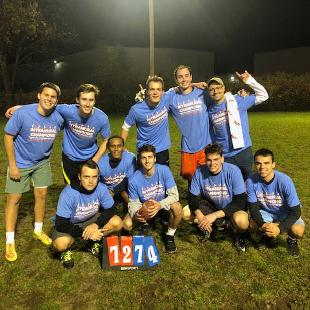 Fall 2019 Men's Flag Football Champions: Hot Snakes