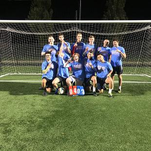 Fall 2019 Men's More Competitive Soccer Champions: Phi Sigs and Friends