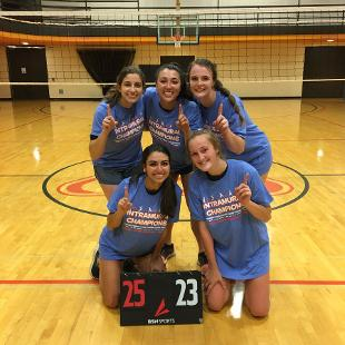 Fall 2019 More Competitive 3P Volleyball Champions: Anchored Down