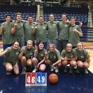Fall 2018 Less Competitive Coed Basketball: Dow-y Llamas defeated We Are Studying