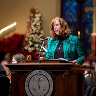 Provost Cady Short-Thompson participates in the service.