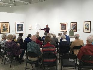 A gallery talk delivered to residents from Freedom Village by Charles Mason.