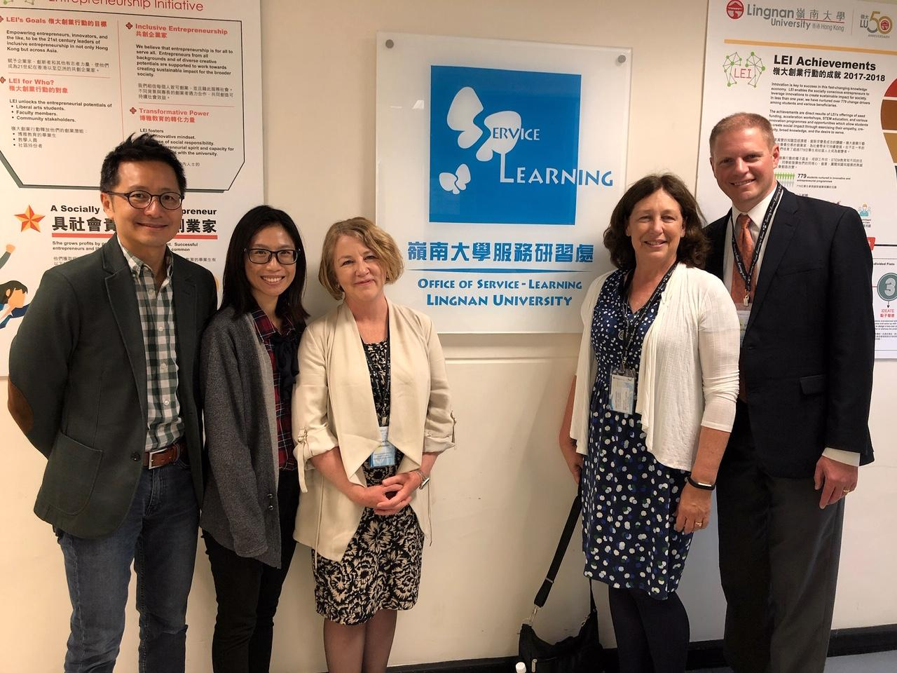 Hope faculty and Lingnan University representatives