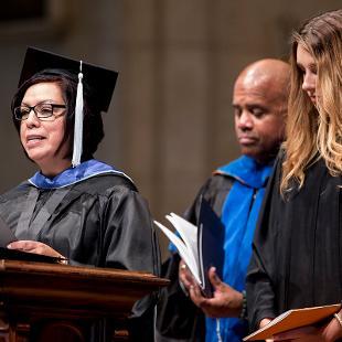 Yolanda Vega reads the Litany of Dedication.