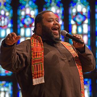 Gospel Choir C.J. Kingdom-Grier sings