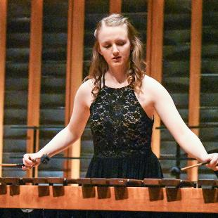 "Leah Reinardy plays ""Nocturnal Dance"" by Jesse Monkman on the Marimba."