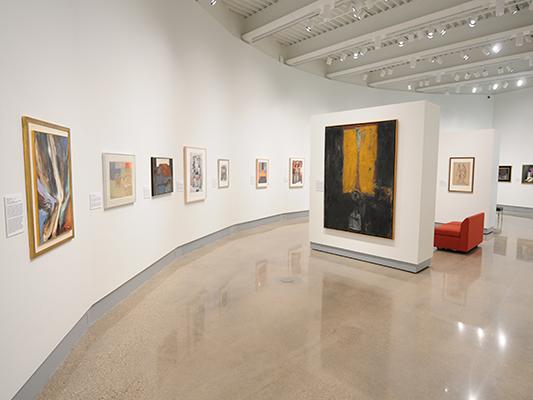 """Artworks on display in the Kruizenga Art Museum """"After the Rupture"""" exhibition"""