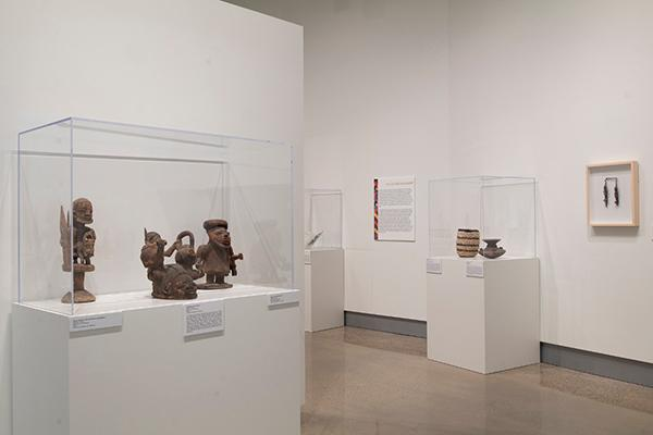 """Traditional Yoruba artworks on display in the exhibition """"Resilience, Resistance and Revival in 20th-Century Yoruba Art"""""""