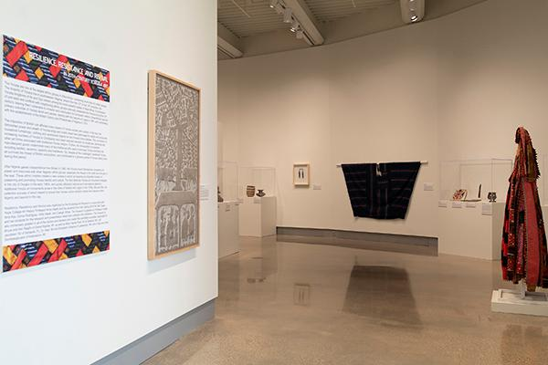"""""""Resilience, Resistance and Revival in 20th-Century Yoruba Art"""" exhibition gallery entrance"""