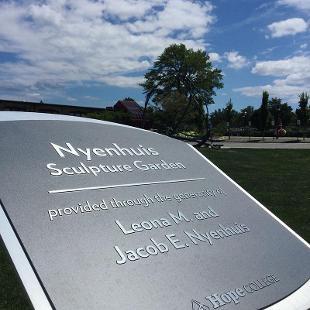 Nyenhuis Sculpture Garden Dedication Plaque