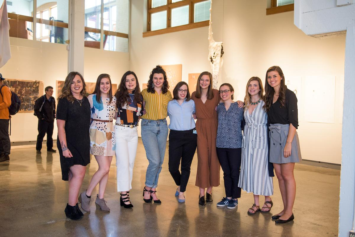 The students whose work was featured in the senior show.