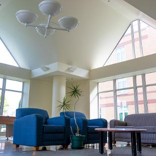 A common area for students to enjoy in Cook Residence Hall.
