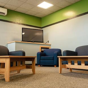 The shared common area for Durfee Hall