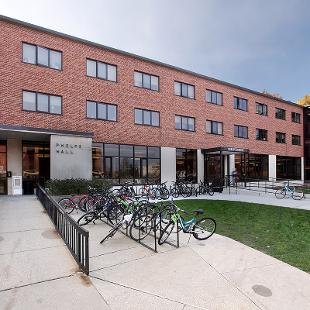 Exterior of Phelps Residence Hall from 10th Street