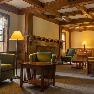 Lounge in Voorhees Residence Hall