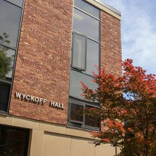 Exterior of Wyckoff Residence Hall from 13th Street
