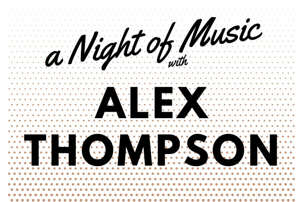 A night of music with Alex Thompson art