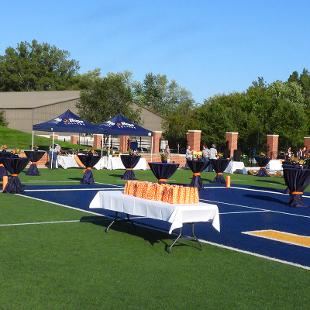 Overview of the set up for the dedication