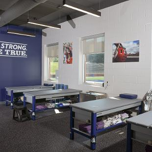 The athletic training facility named in honor of Richard and Carol Ray.
