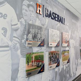 In the main hallway, historical moments and notable performances for the football, baseball and softball programs are on displayed to honor tradition and excellence