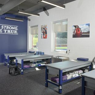 The athletic training/rehabilitation room is being named for Rich and Carol Ray.