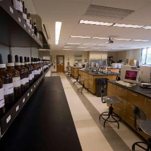 A science lab in A. Paul Schaap Science Center