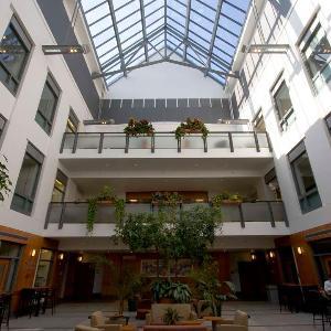 Inside the A. Paul Schaap Science Center atrium