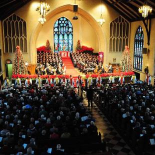 The Christmas Vespers program, held every year.