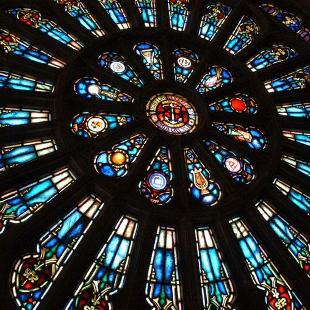 Dimnent Memorial Chapel's rose window