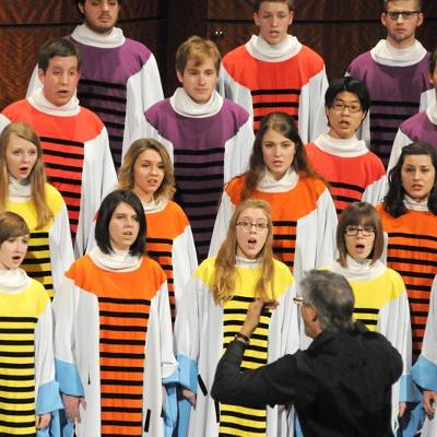 The Hope College Chapel Choir in their uniquely styled robes