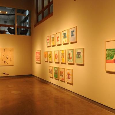 """Hope Has Me"" exhibition in the DePree Art Center Gallery"