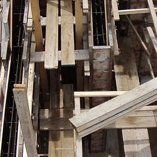Woodwork being built.