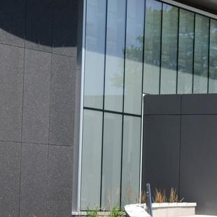 The outside of the finished Kruizenga Art Museum.