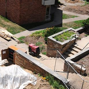 Site preparations for construction of the Jim and Martie Bultman Student Center. Photo by Tom Renner on August 12, 2015