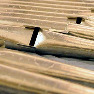 Organ pipes.