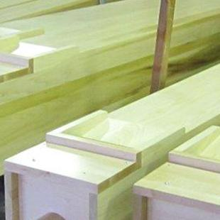 Some of the organ pieces stacked before being placed.