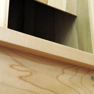 A close-up of the organ being built.