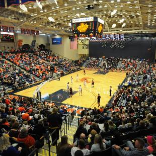 Hope and Calvin play to a packed house in the DeVos Fieldhouse